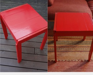 子供椅子→テーブル